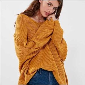 Urban Outfitters Mustard Yellow Oversized Sweater